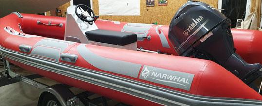 Unser neues Schlauchboot